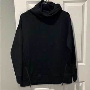 Gap fit jacquard funnel neck sweatshirt